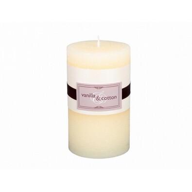 Dekorativní svíčka Elegance vanilka a bavlna, 12 cm