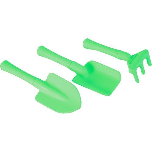 Dětské zahradní nářadí 3 ks, zelená
