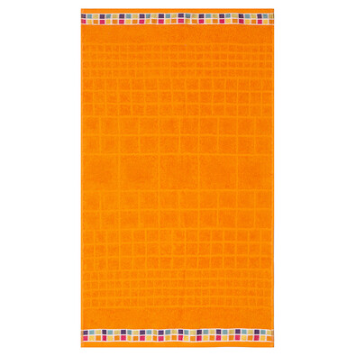 Ručník Mozaik oranžová, 50 x 90 cm