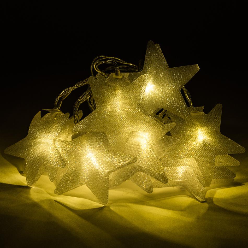 Světelný LED řetěz Star, 10 LED