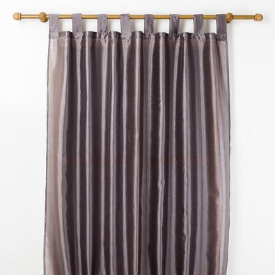 Závěs FAUX SILK, 140 x 250 cm, šedá