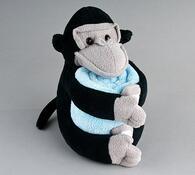 Plyšová opička s dekou, černá