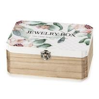 Cutie din lemn Santini, pentru bijuterii, cu oglindă
