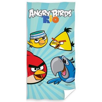 Osuška Angry Birds Rio blue, 70 x 140 cm