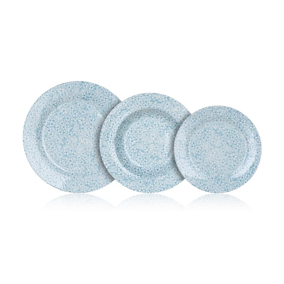 Banquet Sada talířů BLUE MEADOW, 18 ks