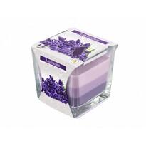 Szivárvány Levendula gyertya üvegpohárban, 170 g