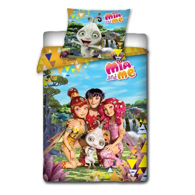 Dětské bavlněné povlečení Mia and Me, 140 x 200 cm, 70 x 80 cm