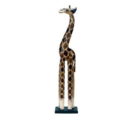 Dřevořezba žirafa, 80 cm, hnědá, 80 cm