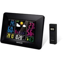 Sencor SWS 4660 Meteostanica s bezdrôtovým senzorom, čierna