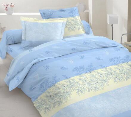 Bavlněné povlečení Arvora, modrá, 140 x 220 cm, 70 x 90 cm