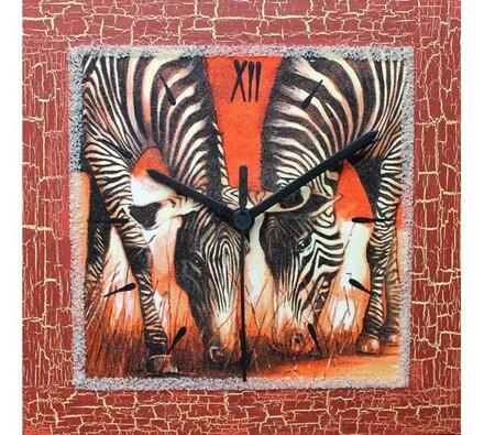 Nástěnné hodiny Zebry na safari