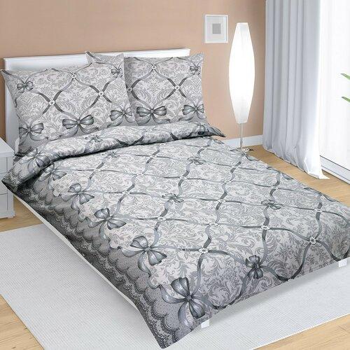 Flanelové obliečky Mašľa sivá, 140 x 200 cm, 70 x 90 cm