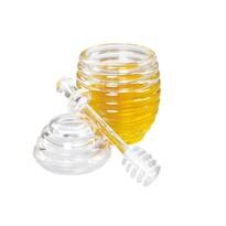 Orion műanyag mézes üveg mézcsurgatóval