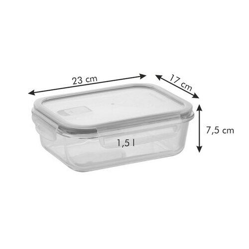Tescoma FRESHBOX GLASS dóza 1,5 l, obdĺžniková