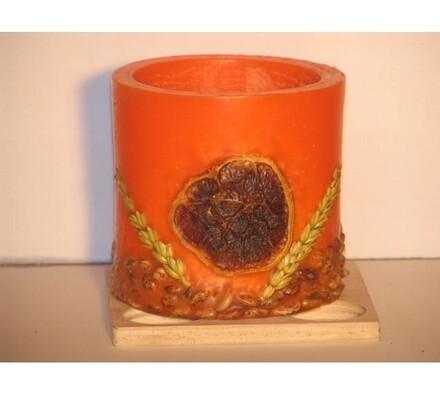 Vonný lampion na čajovou svíčku s vůní pomeranče, oranžová, pr. 10 x 9 cm