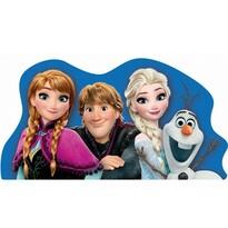 Tvarovaný vankúšik Ľadové kráľovstvo Frozen, 34 x 30 cm