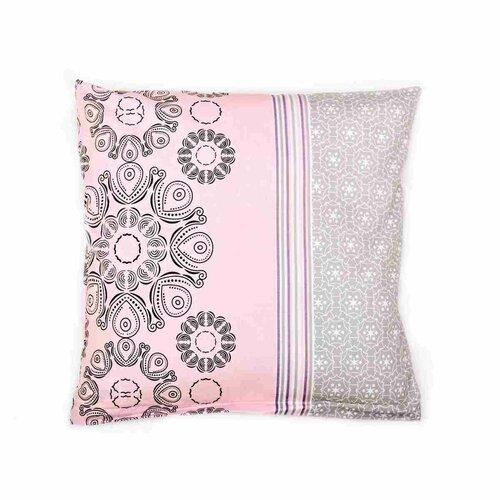 Față de pernă Arbust gri-roz, 40 x 40 cm