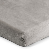 Cearșaf de pat 4Home microflanel, gri, 180 x 200 cm