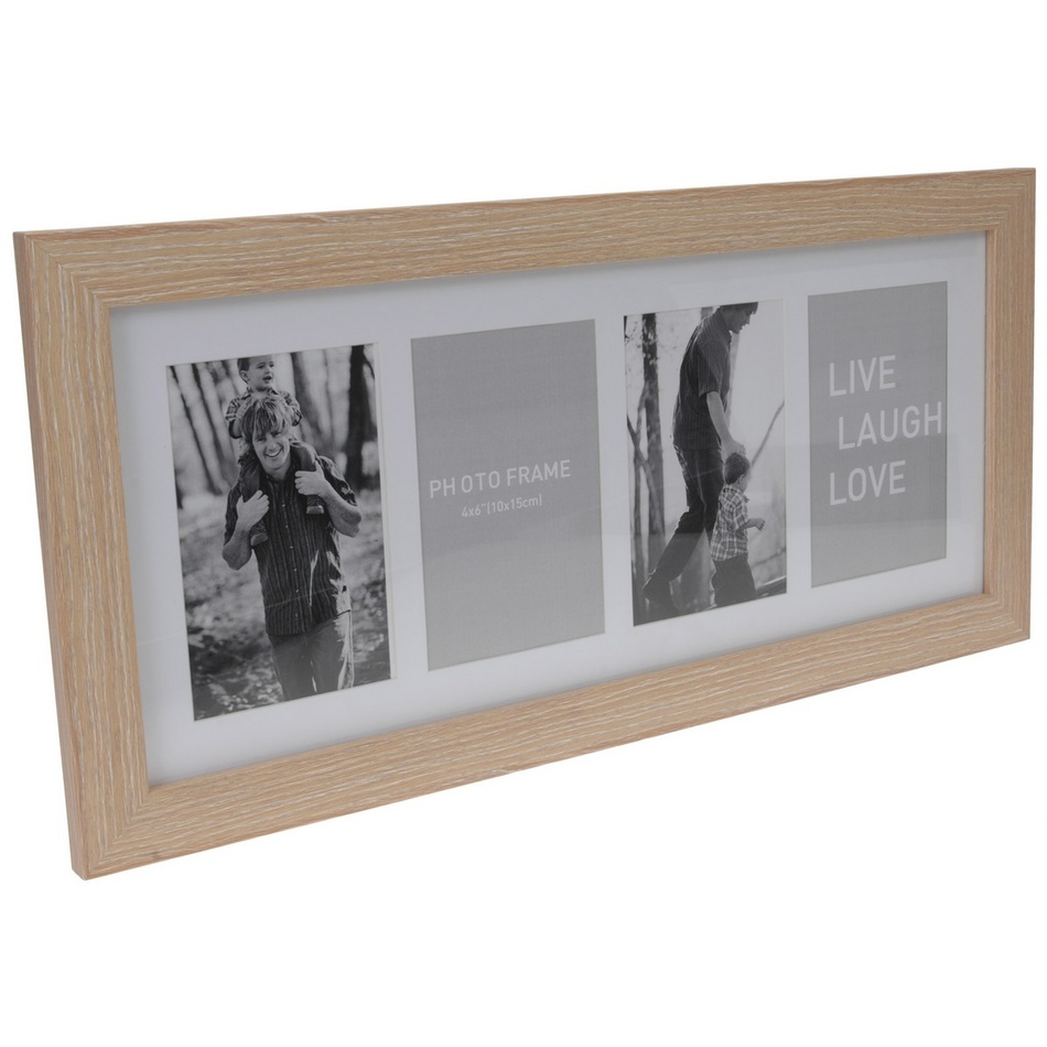 Koopman Fotorámeček na 4 fotografie Seia světle hnědá, 53 x 25 cm