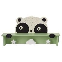 Drewniany wieszak z półką Hatu, panda