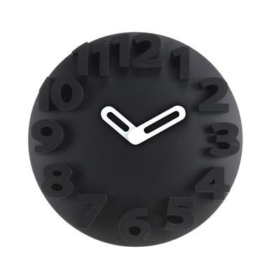 Nástěnné hodiny černé