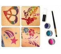 Dočasné barevné tetování Shimmer Glitter