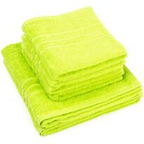 """Zestaw ręczników """"Classic"""" zielony, 4szt. 50 x 100cm, 2szt. 70 x 140cm"""