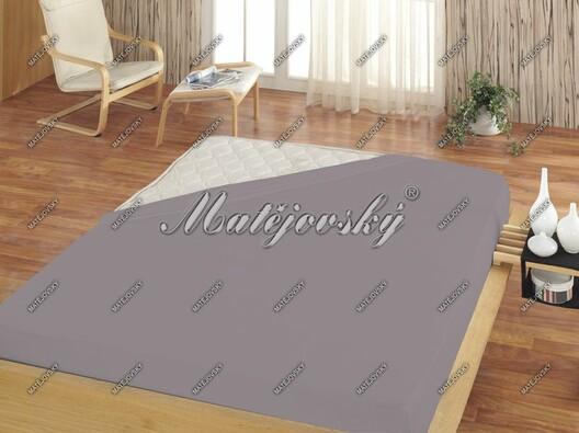 Matějovský jersey prostěradlo středně šedá, 200 x 220 cm