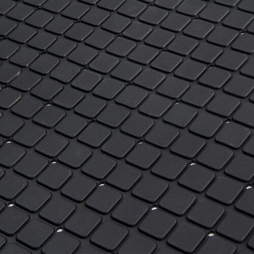 Csúszásgátló fürdüszobai alátét, fekete, 55 x 55 cm