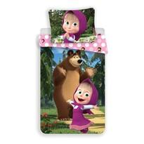 Jerry Fabrics gyermek pamut ágynemű Mása és a medve 051, 140 x 200 cm, 70 x 90 cm