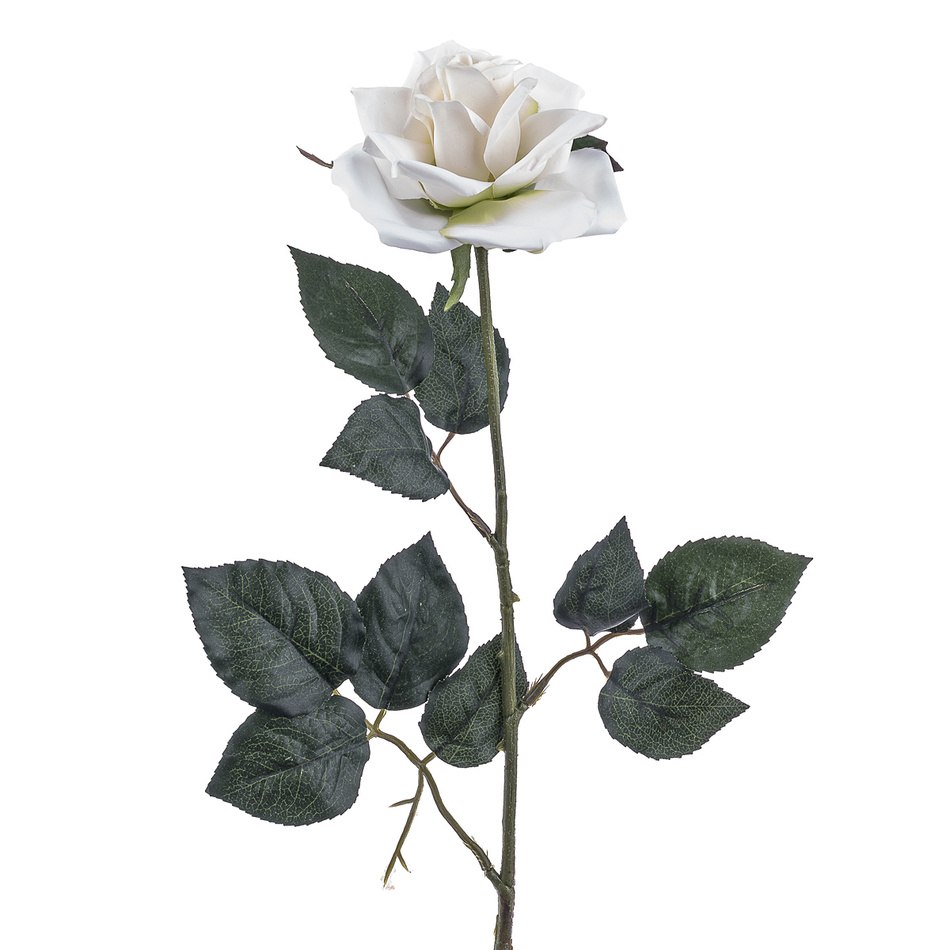 Umelá ruža, biela