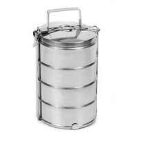 Orion rozsdamentes acél élelmiszertartó, 4  szintes, 1 l