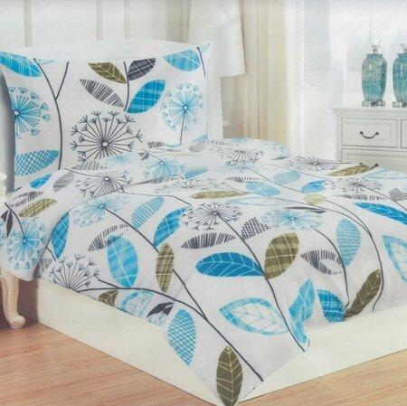 Obliečky mikroplyš Olivie tyrkysová, 140 x 200 cm, 70 x 90 cm