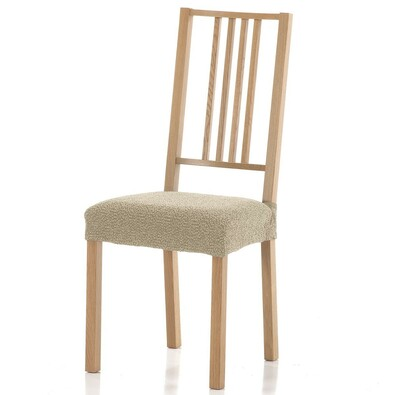 Multielastický poťah na sedák na stoličku Petra béžová, 40 - 50 cm, sada 2 ks