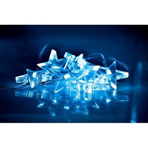 Solight Vánoční řetěz Hvězdy 10 LED modrá, 1,5 m