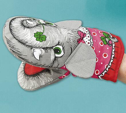 Chňapka slon, 2 ks, šedá, 25 x 14 cm