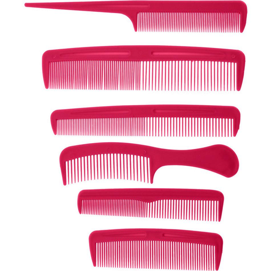 Sada hřebenů Combs červená, 6 ks