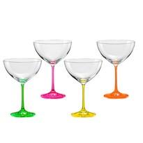 Crystalex 4dílná sada sklenic na víno neON, 340 ml