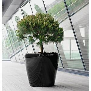 Lechuza Classico LS 35 plastový květináč samozavlažovací černý