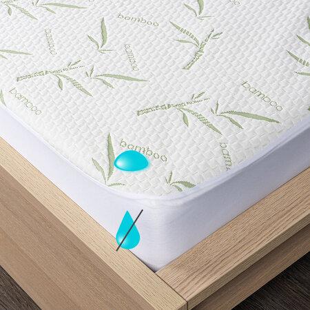 4Home Bamboo Nepropustný chránič matrace s lemem, 160 x 200 cm + 30 cm