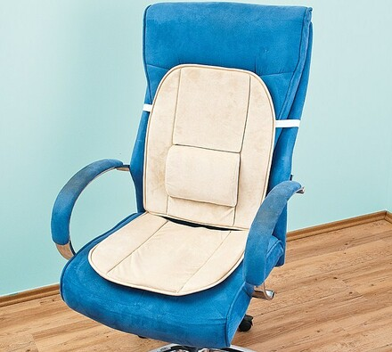 Sedák na křeslo z paměťové pěny, béžová, 45 x (52+42) cm