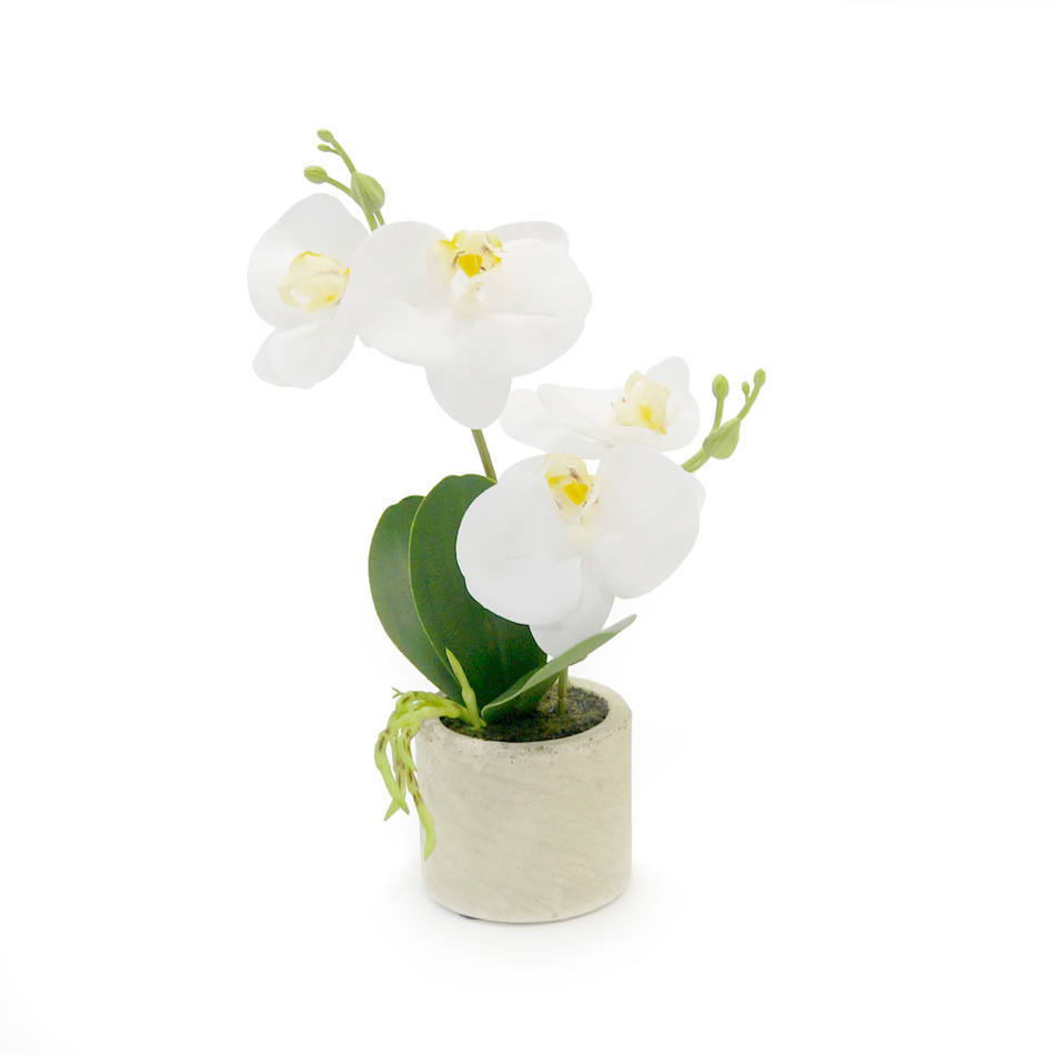 Umelá kvetina orchidea biela, 26,8 cm, Autronic