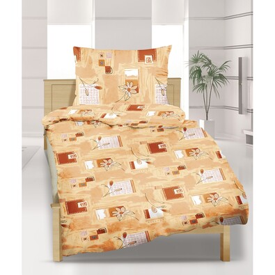 Krepové povlečení Medový sen, 140 x 220 cm, 70 x 90 cm
