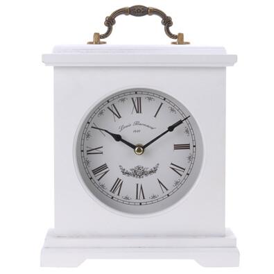 Stolní hodiny dřevěné bílé