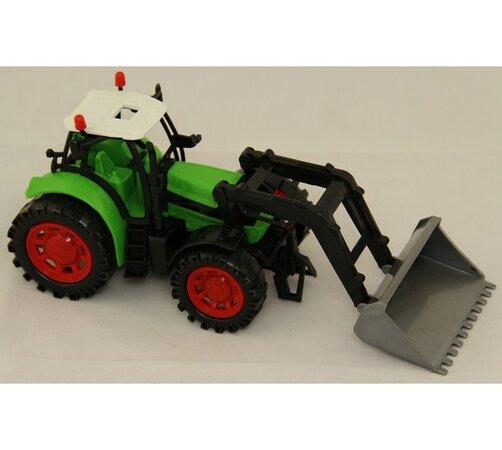 Traktor s radlicí, vícebarevná