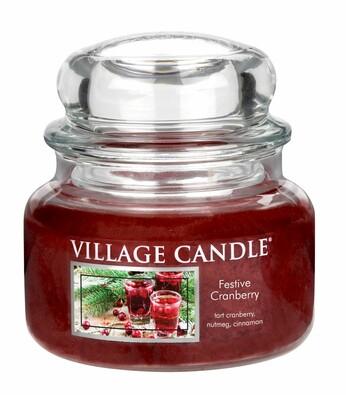 Village Candle Vonná svíčka Vánoční brusinky - Festive Cranberry, 269 g