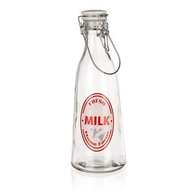Banquet Sklenená fľaša s Clip uzáverom Fresh, 1 l