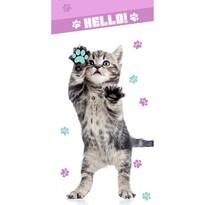 Ręcznik Hello - Kot, 70 x 140 cm