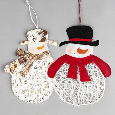 Závěsná dekorace sněhulák 2 ks