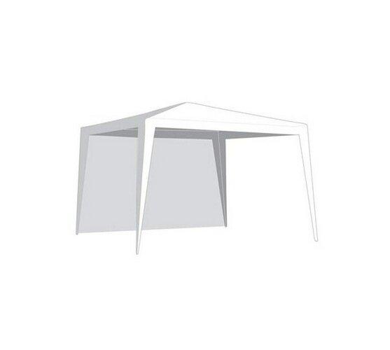 Oldalfal VETRO-PLUS sátorra, ablak nélkül  2,95 x 1,9 m fehér